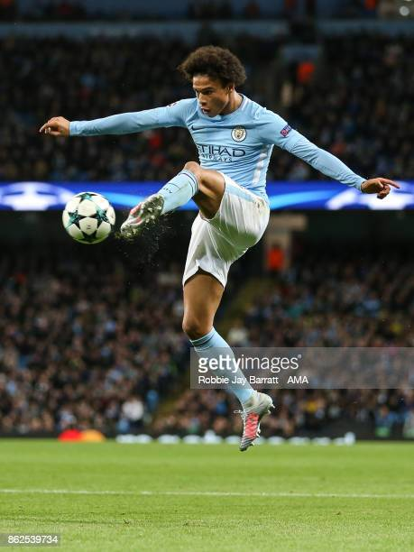 Leroy Sane of Manchester City during the UEFA Champions League group F match between Manchester City and SSC Napoli at Etihad Stadium on October 17...