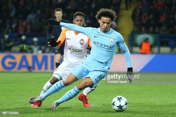 Leroy Sane of Manchester City during the UEFA Champions League group F match between Shakhtar Donetsk and Manchester City at Metalist Stadium on...