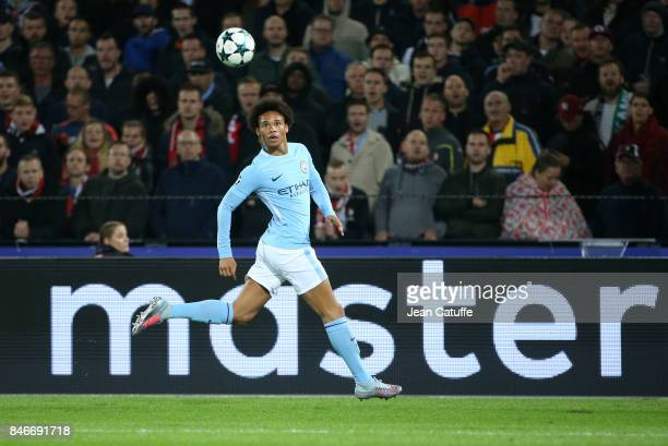 Leroy Sane of Manchester City during the UEFA Champions League match between Feyenoord Rotterdam and Manchester City at Stadion Feijenoord on...