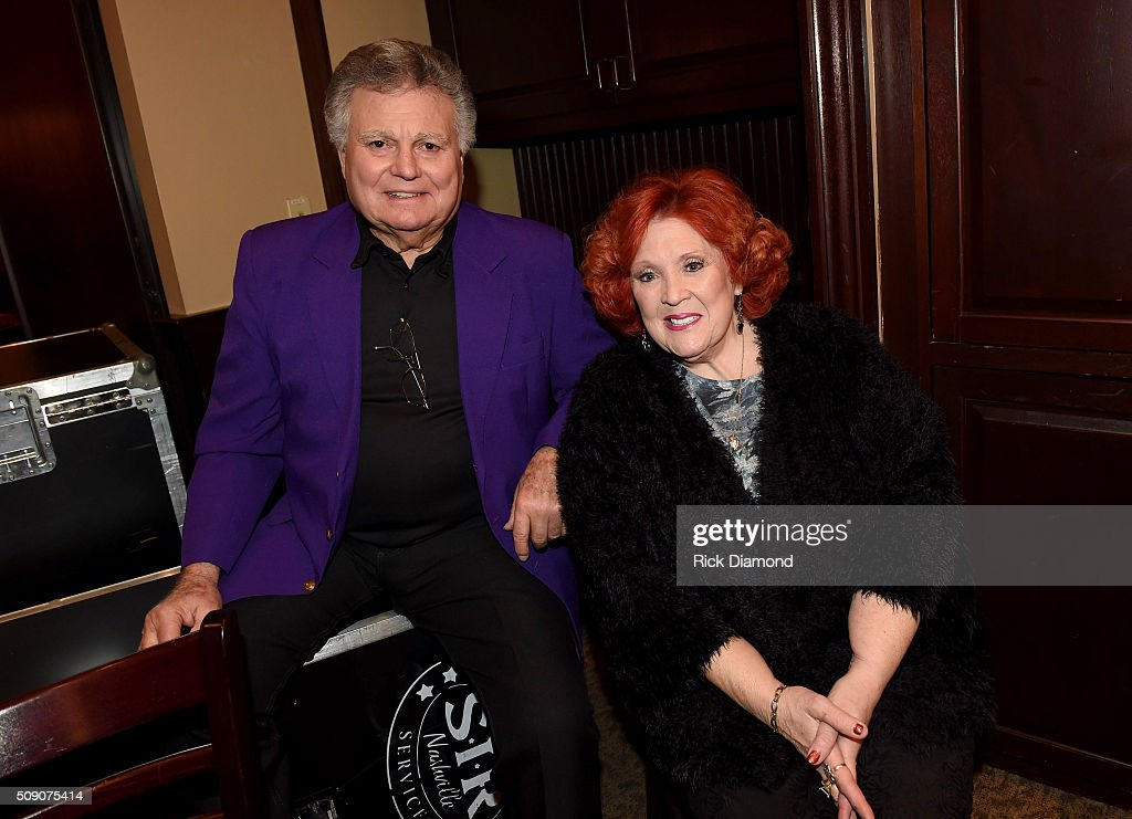 Leroy Van Dyke and Lulu Roman attend the 2nd Annual Legendary Lunch presented by Webster Public Relations and CMA at The Palm Restaurant on February 8, 2016 in Nashville, Tennessee.