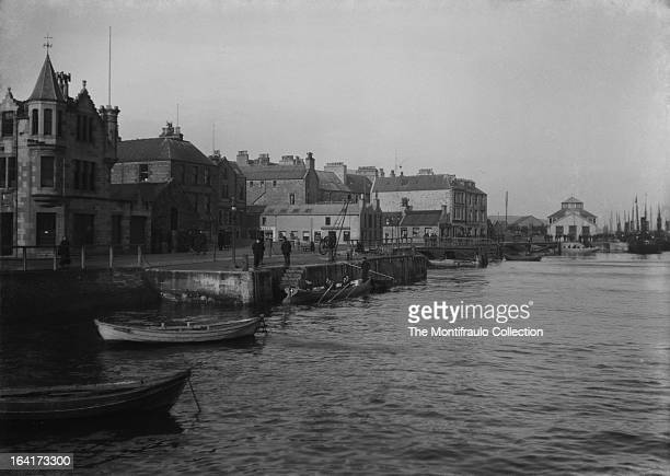 Lerwick harbour Lerwick being the capital and main port for the Shetland Islands Scotland 15th March 1910