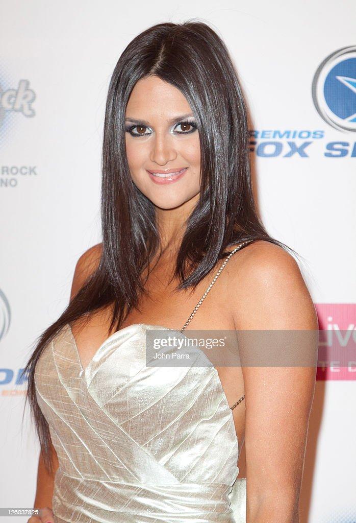 Leryn franco arrives at 8th annual premios fox sports awards at