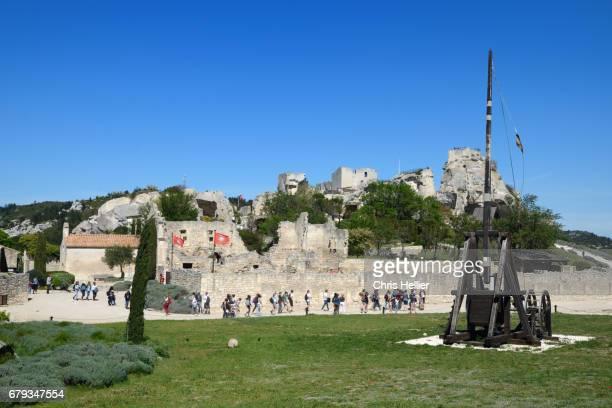 Les Baux-de-Provence Castle & Trebuchet Siege Machine Provence