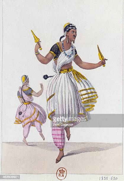 Les Bayaderes 1838 Representation of the dress worn by a group of five Hindu temple dancers also known as The Dancing Priestesses of Pondicherry...