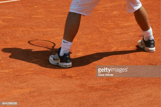 Les chaussures de Rafael NADAL 1/4 Finale Roland Garros 2006 Jour 11 Photo Dave Winter / Icon Sport