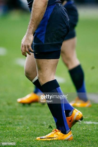 Les chaussures Oranges de Vincent CLERC et Cedric HAYMANS France / Irlande Tournoi des 6 Nations 2008 Paris