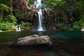 Beautiful waterfall called Les Cormorans in Saint-Gilles on Reunion Island