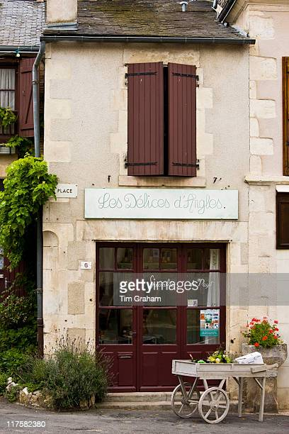 Les Delices d'Angles food shop in traditional French village of Angles Sur L'Anglin Vienne near Poitiers France