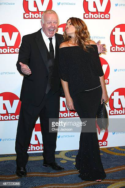 Les Dennis and Alison King attend the TV Choice Awards 2015 at Hilton Park Lane on September 7 2015 in London England
