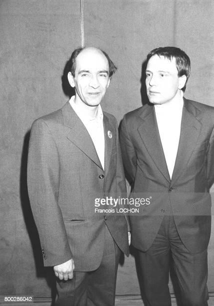 Les dissidents soviétiques Leonide Pliouchtch et Vladimir Boukovski lors du congrès extraordinaire du cinquantenaire de la LICA à la salle Médicis du...