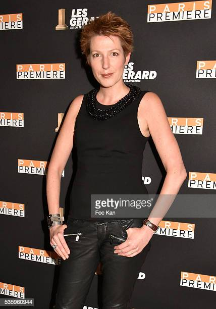 Les Gerards 2016 the worst haircut awarded TV presenter Natacha Polony attend 'Les Gerard De La Television 2016' Awards Ceremony At Theatre Daunou on...