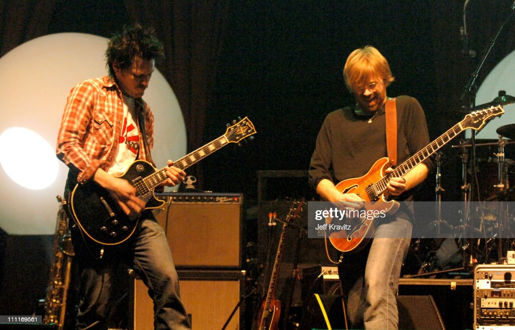 Les Hall and Trey Anastasio during Trey Anastasio Closing Night of Concert Tour at the Wiltern in Los Angeles - December 8, 2005 at Wiltern LG Theater in Los Angeles, California, United States.