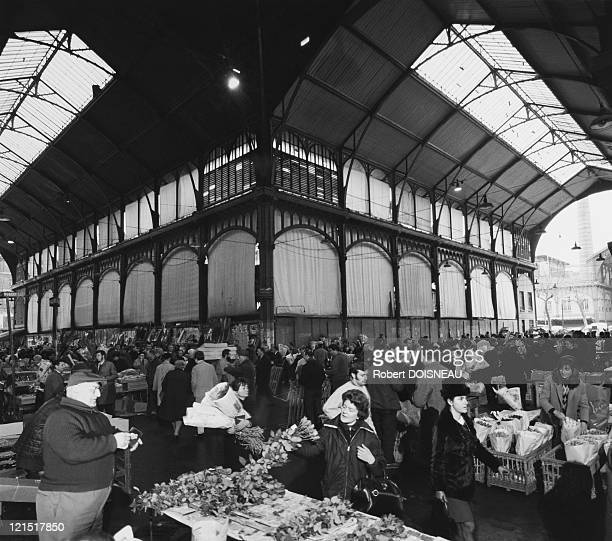 Les Halles The Flowers Market In The 1960'S