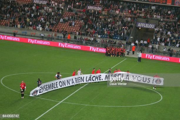 Les joueurs remercient le public a la fin du match PSG / Troyes 37eme journee de Ligue 1 Photo Dave Winter / Icon Sport