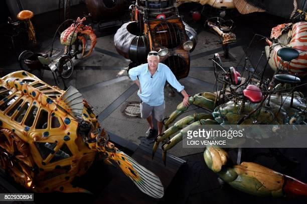 'Les Machines de L'Ile' director Pierre Orefice poses on June 20 in the 'Carrousel des Mondes Marins' in Nantes western France It walks its 48ton...