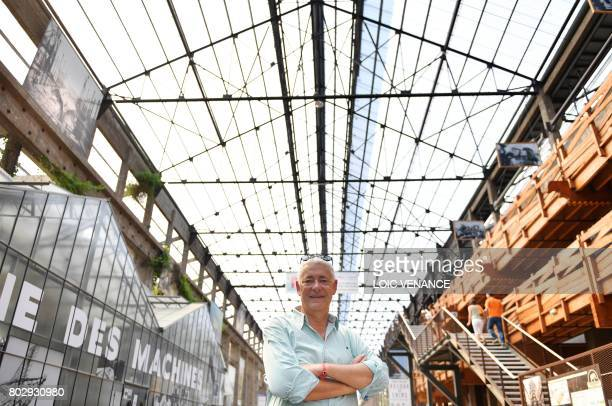 'Les Machines de L'Ile' director Pierre Orefice poses on June 20 poses in the nave in Nantes western France It walks its 48ton metal carcass every...