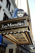 'Les Miserables' marquee during The Final Performance of Broadway's LongRunning Tony AwardWinning Musical 'Les Miserables' at The Imperial Theatre...