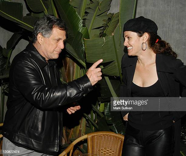 Les Moonves and Amy Brenneman during 'Judging Amy' Celebrates Its 100th Episode at White Lotus in Hollywood California United States