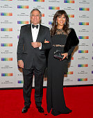 Les Moonves and Julie Chen arrive for the formal Artist's Dinner honoring the recipients of the 38th Annual Kennedy Center Honors hosted by United...