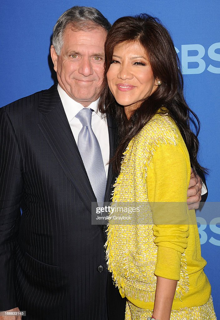 <a gi-track='captionPersonalityLinkClicked' href=/galleries/search?phrase=Les+Moonves&family=editorial&specificpeople=210763 ng-click='$event.stopPropagation()'>Les Moonves</a> and <a gi-track='captionPersonalityLinkClicked' href=/galleries/search?phrase=Julie+Chen&family=editorial&specificpeople=206213 ng-click='$event.stopPropagation()'>Julie Chen</a> attend the CBS 2013 Upfront Presentation at The Tent at Lincoln Center on May 15, 2013 in New York City.