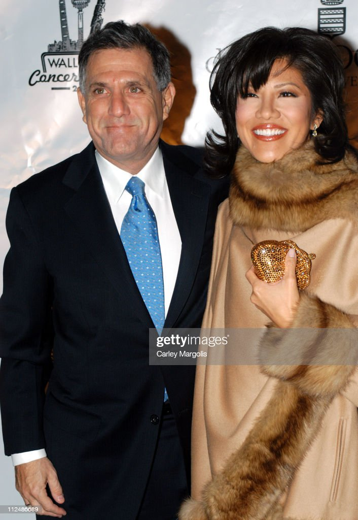 Les Moonves and Julie Chen during Rod Stewart Kicks Off the 2005 Cipriani Wall Street Concert Series at Cipriani Wall Street in New York City New...