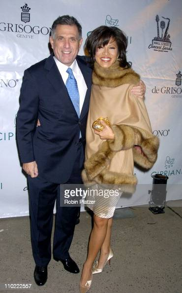 Les Moonves and Julie Chen during The 2005 Wall Street Concert Series Benefiting Wall Street Rising Starring Rod Stewart at Ciprianis Wall Street in...