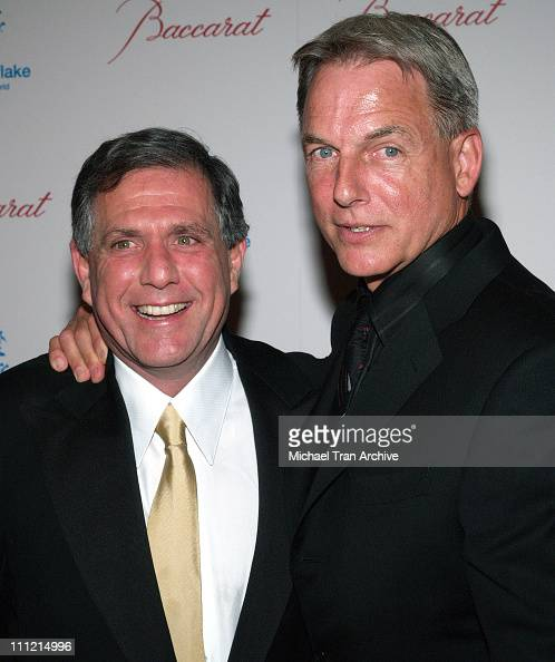 Les Moonves and Mark Harmon during Baccarat Presents the Lighting of the UNICEF Crystal Snowflake and Chandelier Display on Rodeo Drive Followed by...
