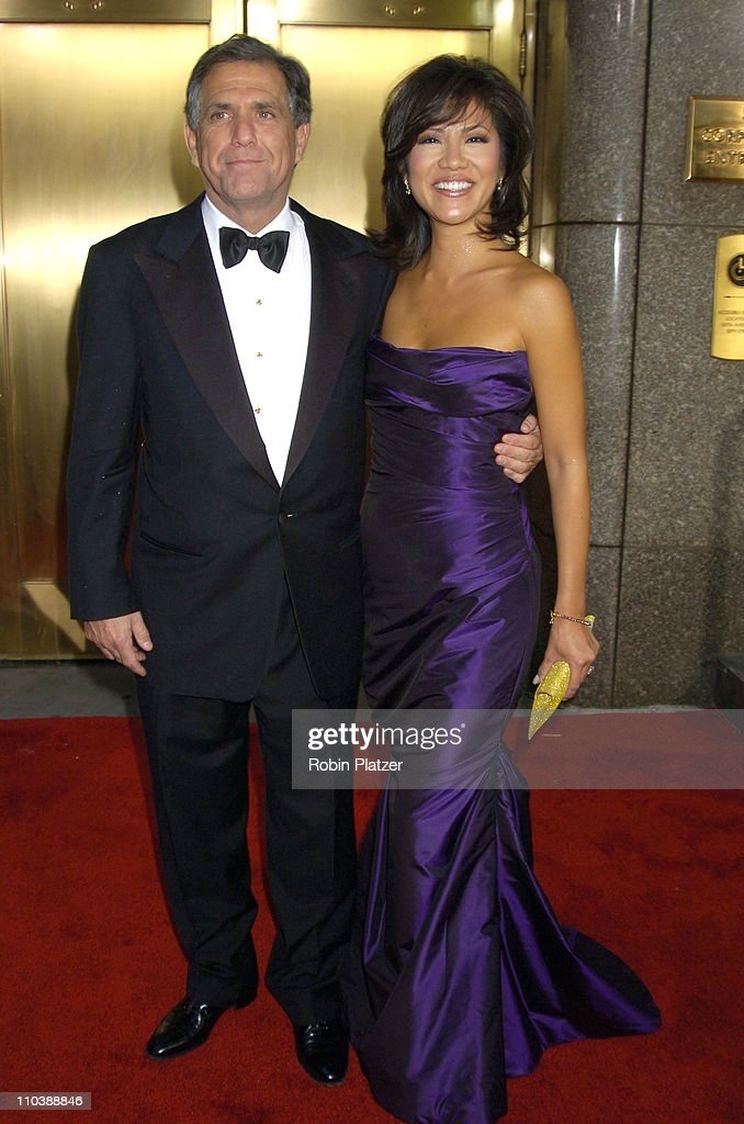 Les Moonves and wife Julie Chen during 59th Annual Tony Awards - Outside Arrivals at Radio City Music Hall in New York City, New York, United States.