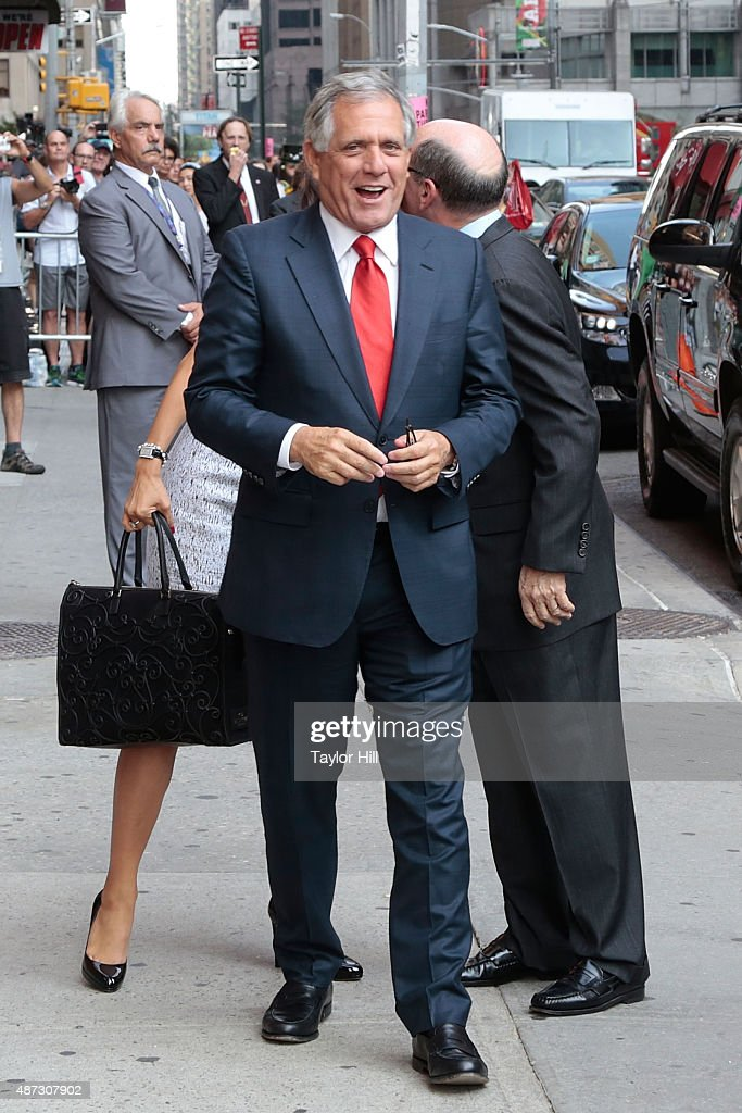 Les Moonves arrives at the first taping of 'The Late Show with Stephen Colbert' at Ed Sullivan Theater on September 8 2015 in New York City