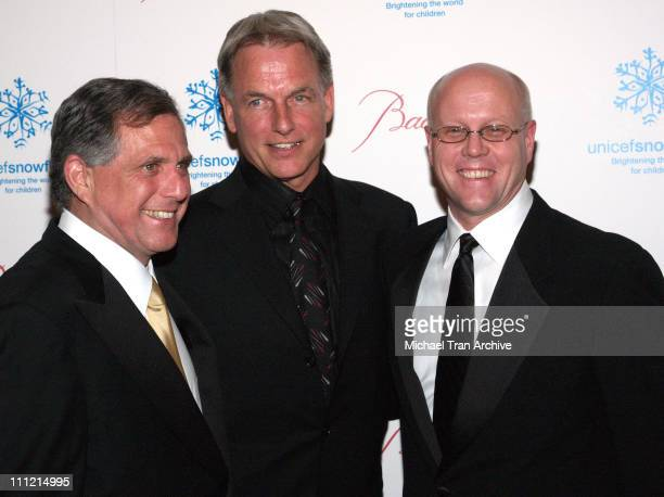 Les Moonves Mark Harmon Charles J Lyons president of UNICEF