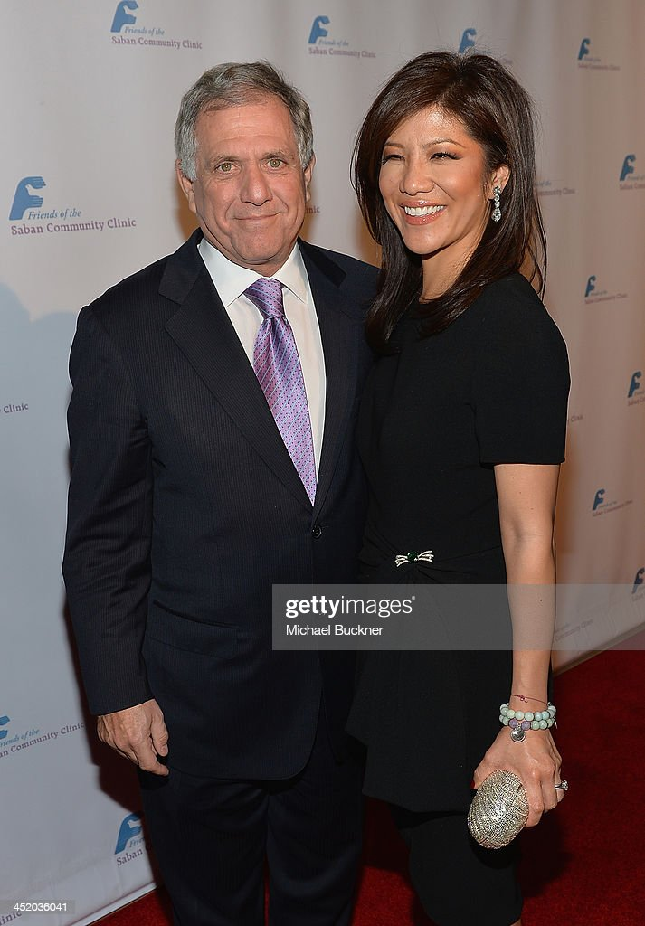 <a gi-track='captionPersonalityLinkClicked' href=/galleries/search?phrase=Les+Moonves&family=editorial&specificpeople=210763 ng-click='$event.stopPropagation()'>Les Moonves</a> President and Chief Executive Officer of CBS Corporation (L) and host <a gi-track='captionPersonalityLinkClicked' href=/galleries/search?phrase=Julie+Chen&family=editorial&specificpeople=206213 ng-click='$event.stopPropagation()'>Julie Chen</a> arrive at the 37th Annual Saban Community Clinic Gala at The Beverly Hilton Hotel on November 25, 2013 in Beverly Hills, California.