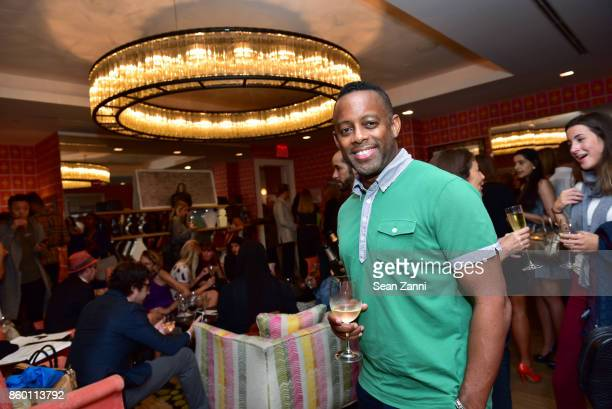 Les Moore attends the launch of The Collector Geneva's Sophie Bonvin Code Collection in Collaboration with artist Bill Claps at Crosby Street Hotel...