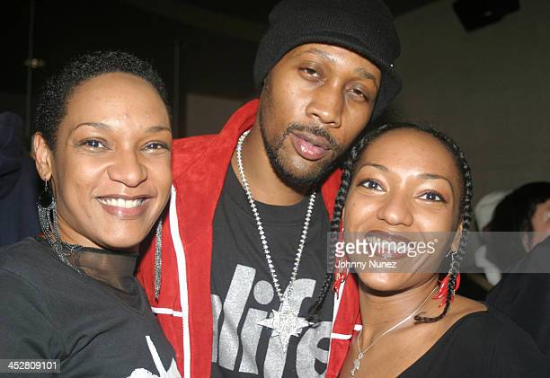 Les Nubians and Rza during Rza and Trace Magazine Host Kill Bill Vol 2 Private Screening at Tribeca Screening Room in New York City New York United...