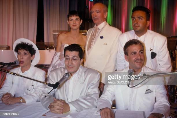 Les Nuls lors du mariage d'Eddie Barclay avec Caroline Giganti le 3 juin 1988 a Paris France