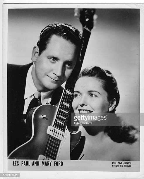 Les Paul and Mary Ford studio portrait United States 1951 studio portrait United States