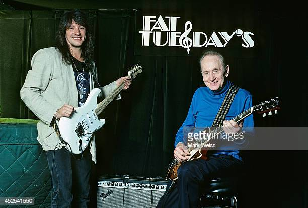 Les Paul and Richie Sambora at Fat Tuesday's circa 1993 in New York City