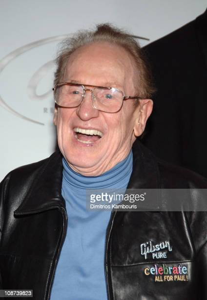 Les Paul during The 39th Annual CMA Awards Capital Records Post Party Arrivals at Nikki Beach in New York City New York United States