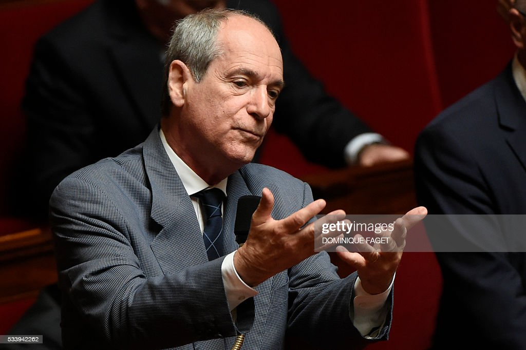 Les Republicains MP Guy Geoffroy delivers a speech during a debate prior to the vote on the reform of the 'Conseil superieur de la magistrature', on May 24, 2016 at the National Assembly in Paris.