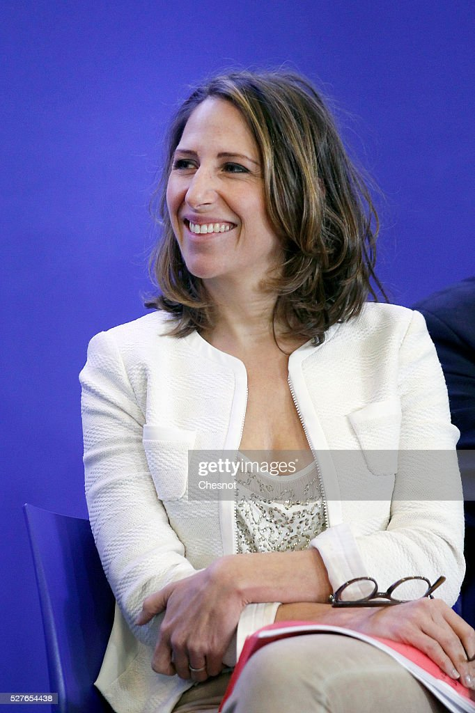 'Les Republicains' (LR) party member and general delegate in charge of Environment Maud Fontenoy attends a meeting at the party's headquarters on May 3, 2016 in Paris, France. Former French president and President of France's right-wing Les Republicains (LR) Nicolas Sarkozy held a working meeting on the environment, sea and energy.
