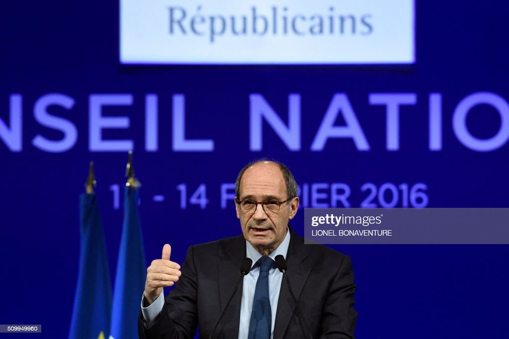 Les Republicains (LR) right-wing main opposition party's member Eric Woerth gives a speech during the LR National Council on February 13, 2016 in Paris. AFP PHOTO / LIONEL BONAVENTURE / AFP / LIONEL BONAVENTURE