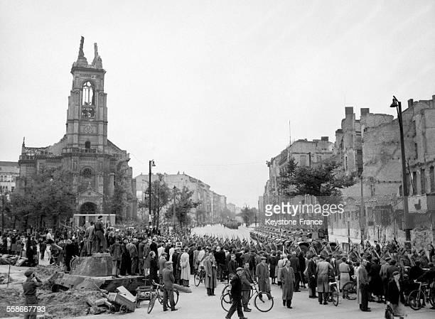 Les troupes françaises à Berlin Allemagne en 1945