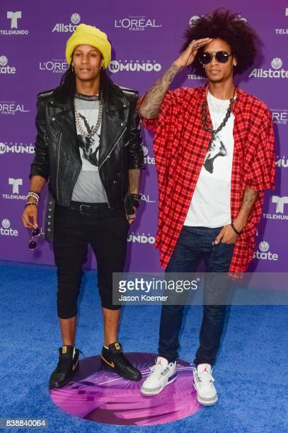 Les Twins arrive at Telemundo's 2017 'Premios Tu Mundo' at American Airlines Arena on August 24 2017 in Miami Florida