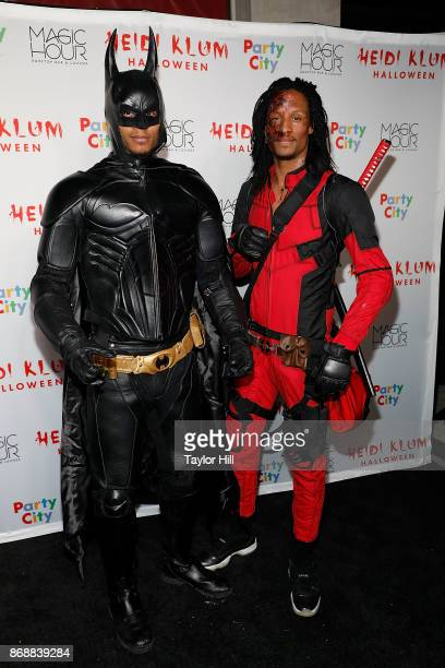 Les Twins attend Heidi Klum's 18th annual Halloween Party presented by Party City at the Magic Hour Rooftop Bar Lounge on October 31 2017 in New York...