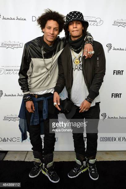 Les Twins attend the YouTube channel DanceOn presents Spotlight The Ultimate Dance Experience at Los Angeles Convention Center on August 29 2014 in...