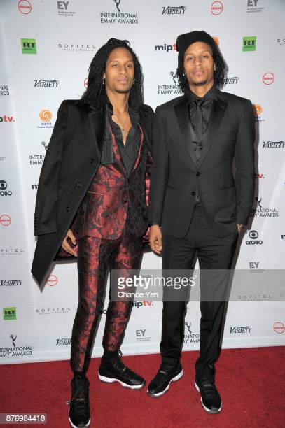 Les Twins attends 45th International Emmy Awards at New York Hilton on November 20 2017 in New York City