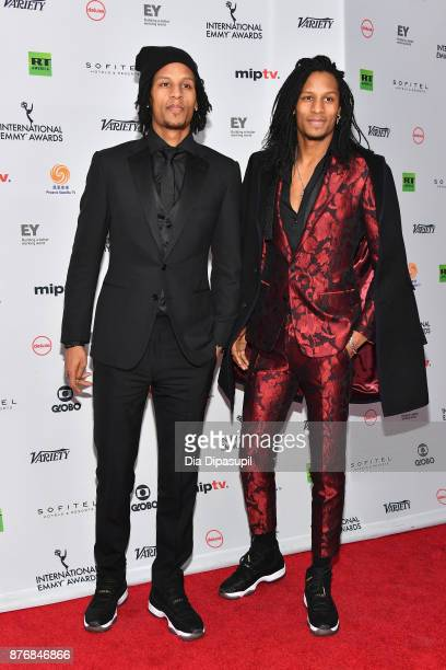Les Twins attends the 45th International Emmy Awards at New York Hilton on November 20 2017 in New York City