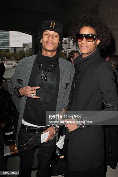 Les Twins attendthe Anthony Vacarello Spring / Summer 2013 show as part of Paris Fashion Week at Cite de la Mode et du Design on September 25 2012 in...