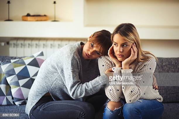 Lesbian couple having relationship difficulties