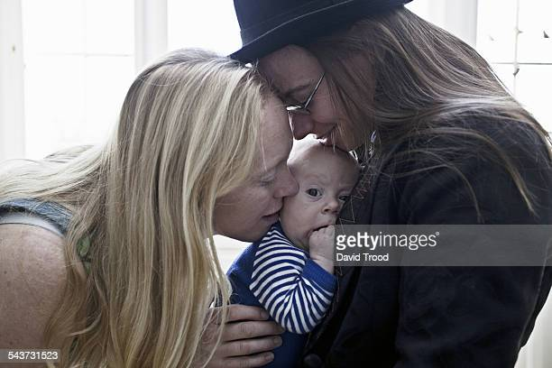 Lesbian couple with baby boy
