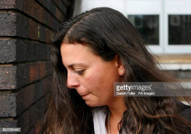 Lesbian PE teacher Serena Weston leaves Hove Crown Court in East Sussex where she is accused of kissing and fondling a 14yearold female pupil